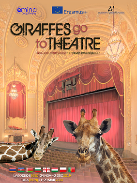 Giraffes go to theatre
